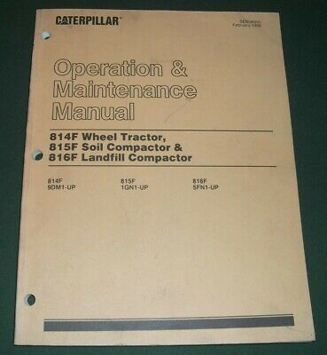 Cat Caterpillar 814f 815f 816f Tractor Compactor Operation Maintenance Manual