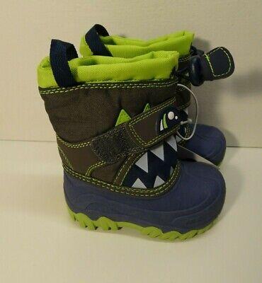 Toddler Boys Bernardo Wolf Monster Winter Boots - Cat & Jack  Navy & Green -