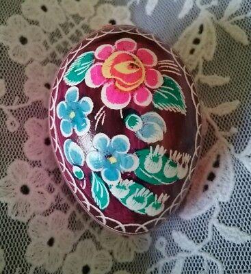 VINTAGE real blown egg, handpainted