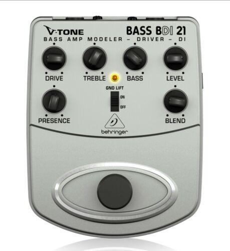 New Behringer BDI21 V-Tone Bass Driver Amp Modeler/Direct Recording Preamp/DI - $54.99