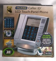Talking Caller ID LCD Touch Panel Wired Phone, Alarm Clock, Calculator