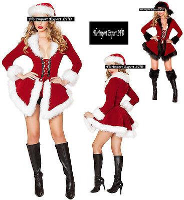 Jacke Frauen Hut Kostüm Weihnachtsmann Cosplay Hostess Weihnachten - Weihnachtsmann Kostüm Weiblich