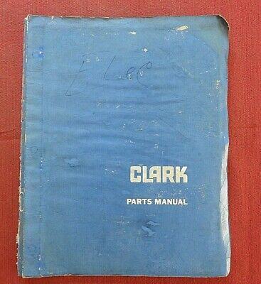 1967-77 Clark Sp30 Walk Behind Electric Fork Lift Straddle Stacker Parts Catalog