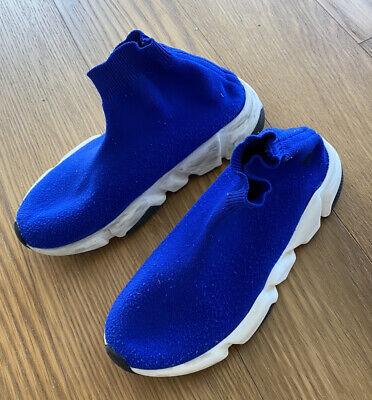 Balenciaga Boys Kids Blue Fabric Sock Sneakers Size 33