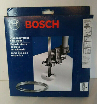 Bosch Stationary Band Saw Blades 3 Pk 62 Bs62 Wood Curved Cuts