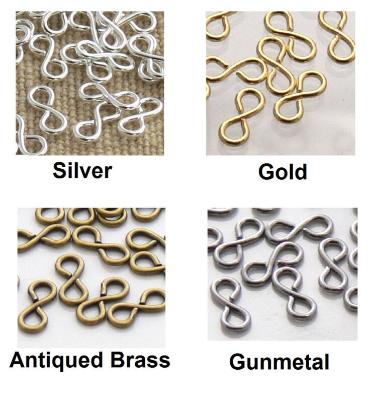 Figure 8/Infinity Links 50 Connectors Choose Silver Gold Brass or Gunmetal