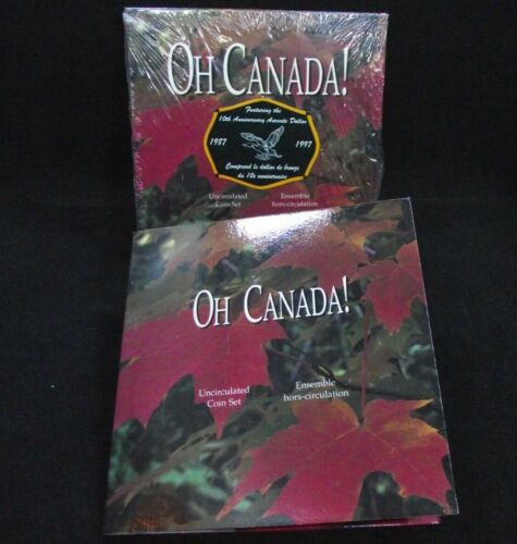 1997 OH CANADA ! Uncirculated 7 Coin Set, 10th Anniversary Dollar