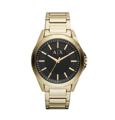 Armani Exchange - AIX Men's Three Hand Gold Tone Stainless Steel Watch