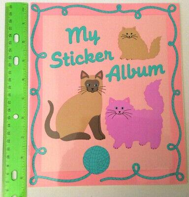 Sandylion Vintage Cats & Kittens Large Blank Sticker Book/ Album 1990 RETIRED