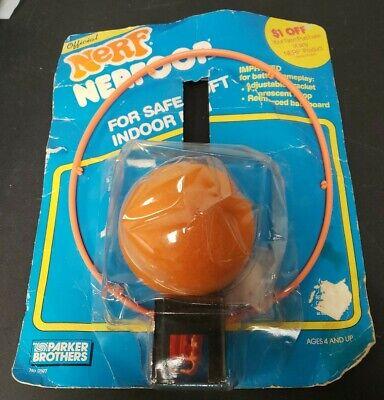 Vtg Nerf 1988 NERFOOP Parker Brothers 0097 Basketball Hoop Toy NIP NEW