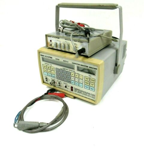 USED SENCORE LC102 CAPACITOR & INDUCTIVE ANALYZER WITH SCR250 TESTER