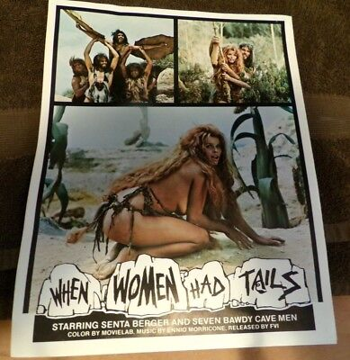 WHEN WOMEN HAD TAILS/ORIG. 8 X 11 Press Kit and Radio offfer (SENTA BERGER)