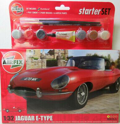Jaguar E-Type, Bausatz mit Farbe,Kleber,Pinsel,OVP, Airfix, 55200, 1:32,NEU