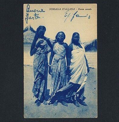 SOMALIA ITALIANA NATIVE WOMEN SOMALISCHE FRAUEN VINTAGE 1920S ETHNIC NUDE PC