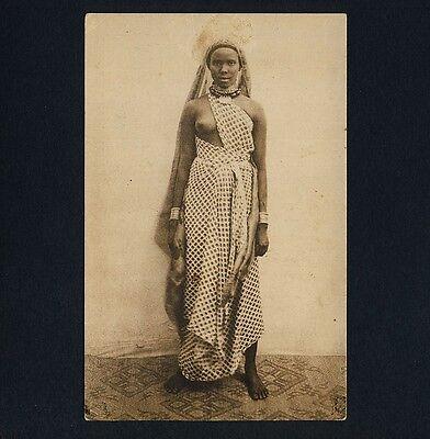 SOMALIA ITALIANA NATIVE WOMAN SOMALISCHE FRAU VINTAGE 1920S ETHNIC NUDE PC