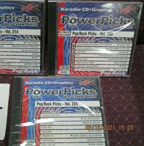 3 sound choice karaoke pop rock picks  karaoke cd + graphics 3 total