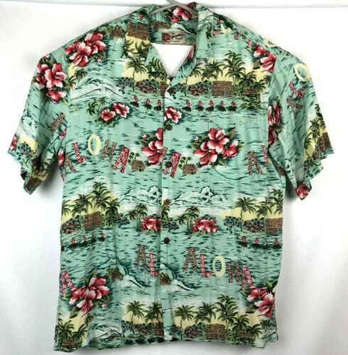 Vintage Hilo Hattie The Hawaiian Original Aloha Hula Girl Shirt XL