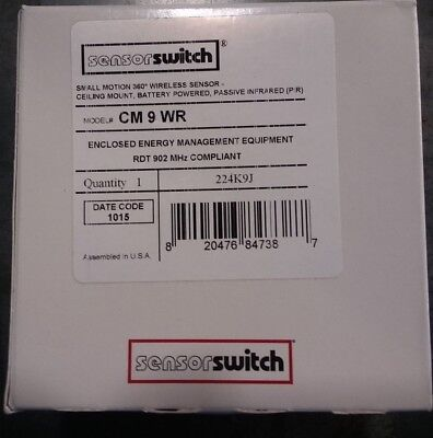 Sensor Switch Cm-9-wr Ceiling Occupancy Ceiling Sensor. Brand New.
