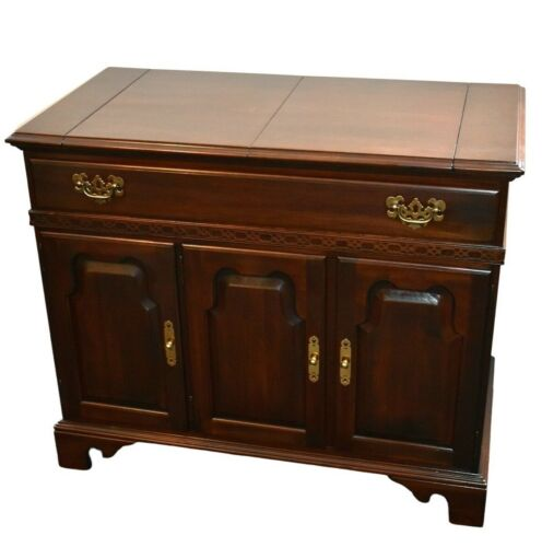 Vintage Ethan Allen Solid Cherry Georgian Court Server/Bar