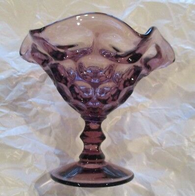 "Imperial Glass ~ Amethyst ""Provencial"" 7"" Comport / Bon Bon / Candy Dish ~ Mint"