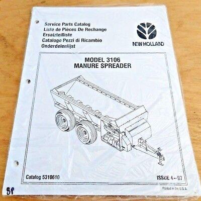 New Holland 3106 Manure Spreader Parts Catalog Manual Nh