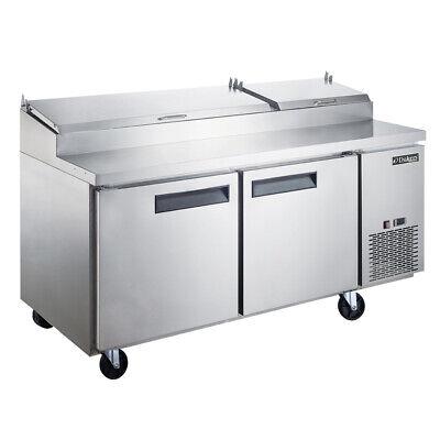 New Dukers Dpp70-9-s2 Commercial 2-door Pizza Prep Table Refrigerator