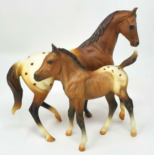Breyer Horse Classic Mare Foal Appaloosa Geronimo Cochise #700695 Kelso Sea Star