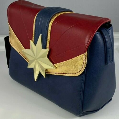CAPTAIN MARVEL CROSSBODY BAG PURSE EXCLUSIVE MAGNETIC SNAP CLOSE NEW WITH TAGS