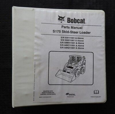 Original Bobcat S175 Skid Steer Loader Tractor Parts Catalog Manual Acceptable