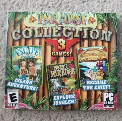 Computer Games - Paradise Collection 3 PC Games Window 10 8 7 XP Computer SEALED FREE SHIPPING