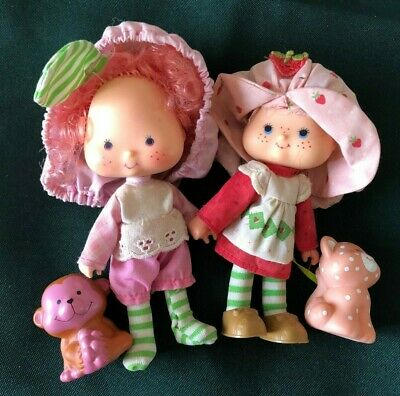Vintage Strawberry Shortcake and Raspberry Tart Dolls and Pets