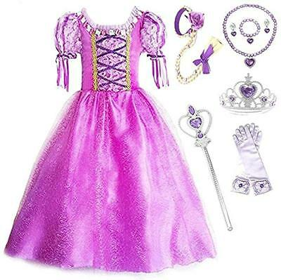 SweetNicole Princess Rapunzel Purple Princess Party Costume Dress w/ Accessories](Violet Costume)