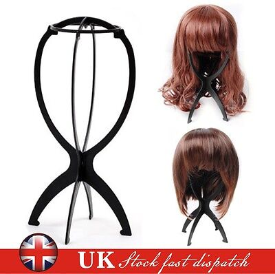 Foldable Wig Display Stand Hair Holder Mannequin Dummy Head Hat Cap Stable Tool