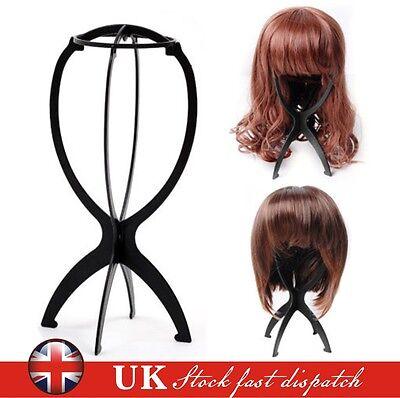 Black Wig Display Stand Mannequin Dummy Head Hat Cap Hair Holder Storage Folding