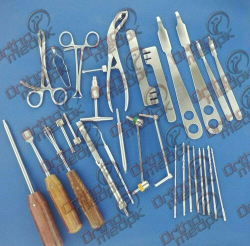Small Fragment Instruments Orthopedic Surgical Instruments 30 Pcs Set A+
