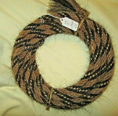 "Mane Horse Hair Mecate 24 feet long  5//8/"" diameter  8 strands Pattern G"