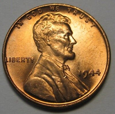 1944 Lincoln Wheat Cent in the GEM BU Range From Original Bank Wrapped (Penny Stove)