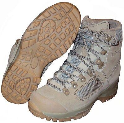BRITISH ARMY - LOWA DESERT COMBAT BOOTS - SIZE 12.5 - NEW IN BOX