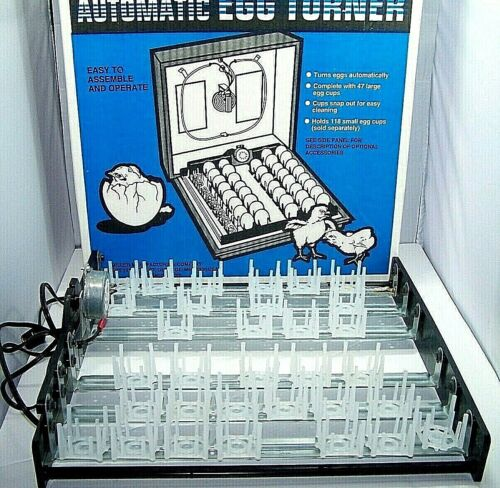 Little Giant model 6200 automatic Egg Turner 32 egg cups Tested works great