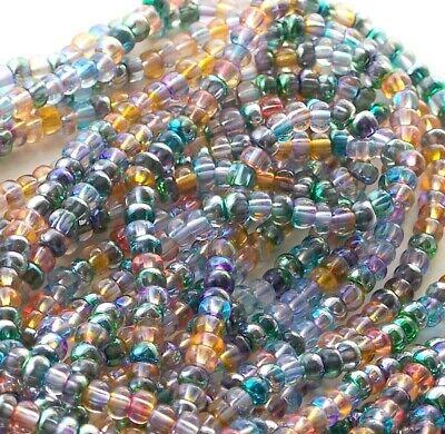 Luster Bead Mix - Celestial Bead Mix, 6/0 Transparent AB Luster Czech Seed Bead Mix, Preciosa NEW!