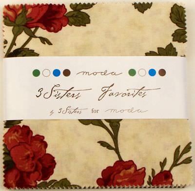 3 Sisters Favorites Moda Charm Pack 42 100% Cotton 5