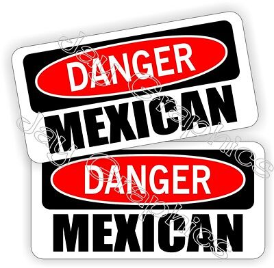 Hard Hat Stickers Danger Mexican Safety Funny Helmet Decals Labels Mexico