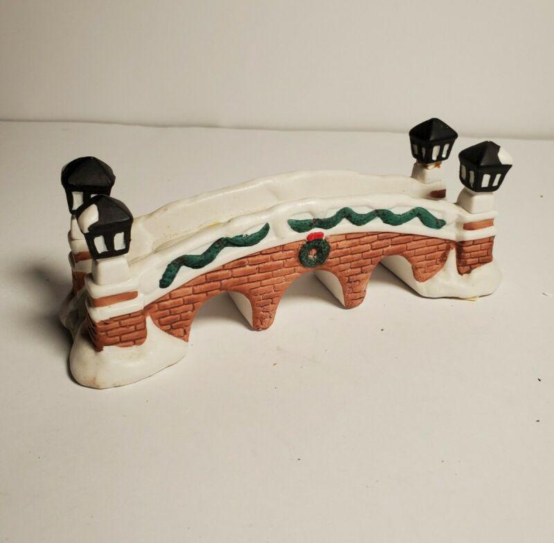 Christmas Village Accessories Brick Bridge Expressions