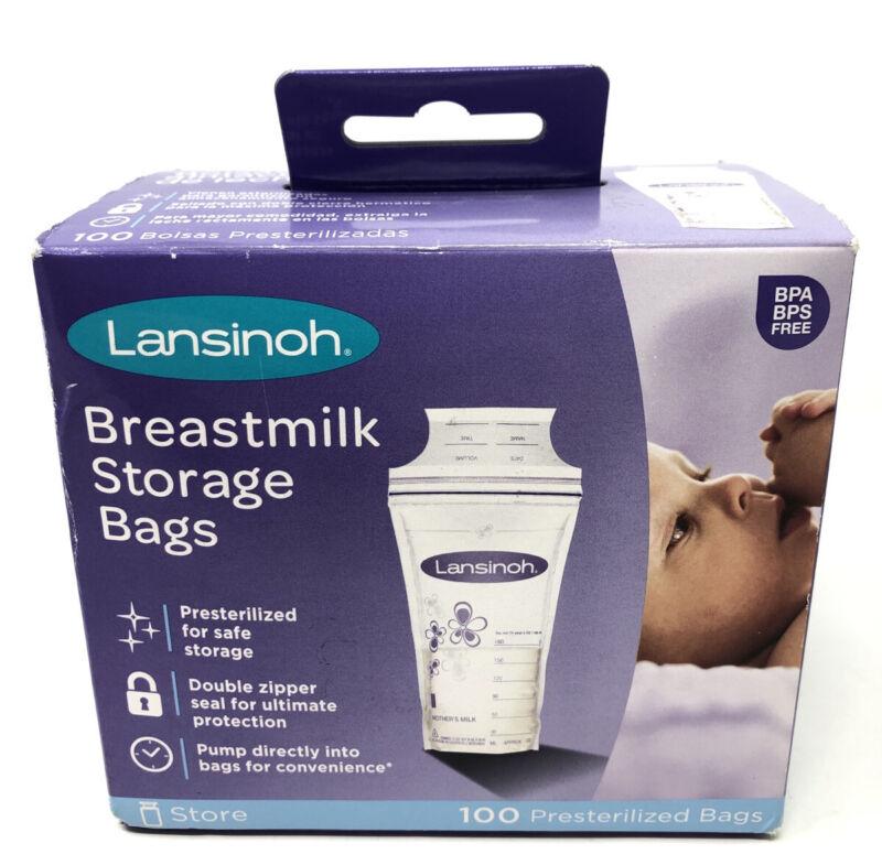 Lansinoh Breastmilk Breast Milk Storage Bag Presterilized 100 ct Sealed 🚚FREE📦