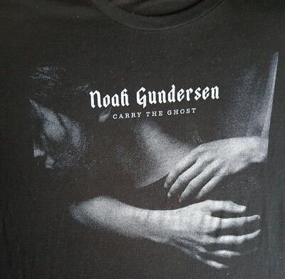 NOAH GUNDERSEN Carry The Ghost 2015 album Tour Men's T-shirt Black XL AWESOME lp American Apparel Carry On