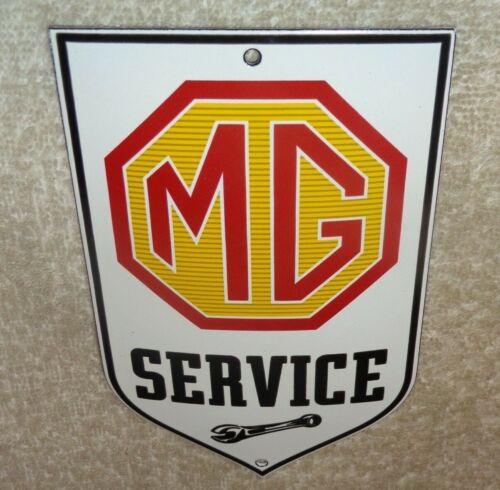 """VINTAGE MG BRITISH SPORTS CAR SERVICE 6"""" PORCELAIN METAL GASOLINE & OIL SIGN M G"""