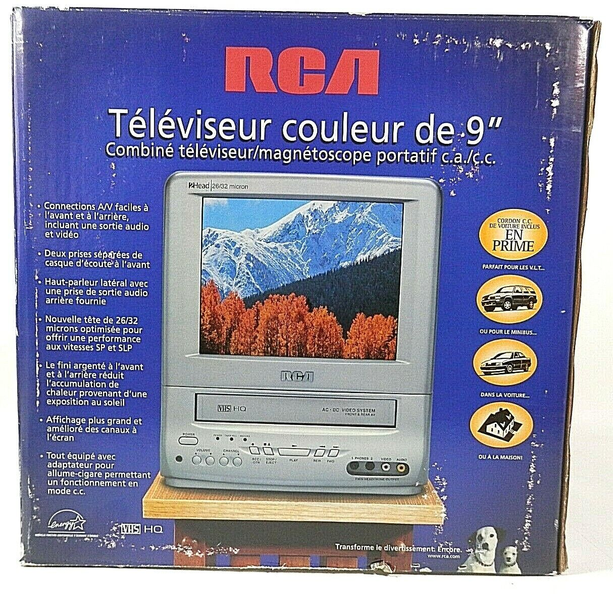 Classic RCA T09085 VHS RECORDING AC/DC Portable Color Gaming