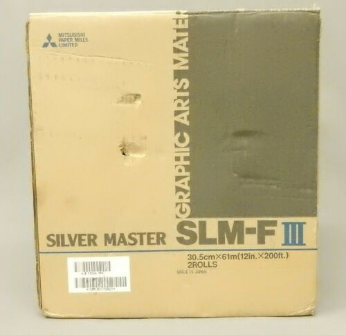 Mitsubishi SLM-FIII Silver Master Polyester plate 12inX200ft 2 Rolls New Open