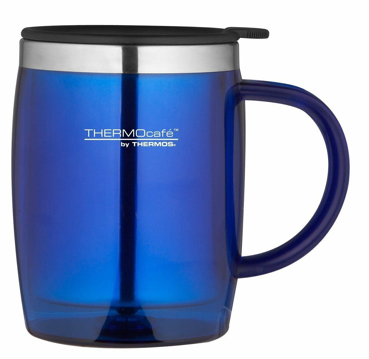 Thermos Thermocafe 0.45 Litre Desktop Mug Blue Camping Picni
