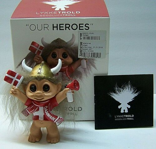 Our Heroes Good Luck Troll Danmark With Original Box LykkeTrold New Open Box